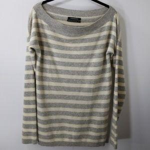 Club Monaco Striped Cashmere Sweater Size M